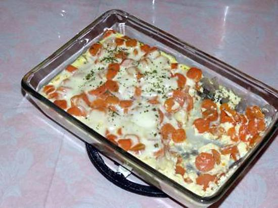 recette Flan aux carottes/ mozzarella