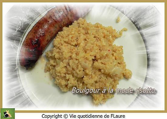 recette Boulgour à la mode risotto