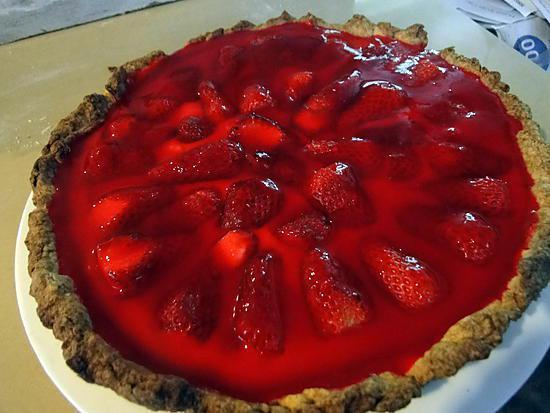 recette Tarte composite aux fraises