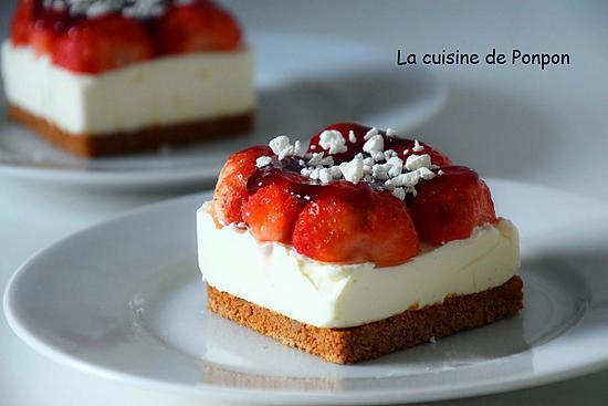 Recette d 39 un carr de fraises sans cuisson - Tiramisu fraise sans mascarpone ...