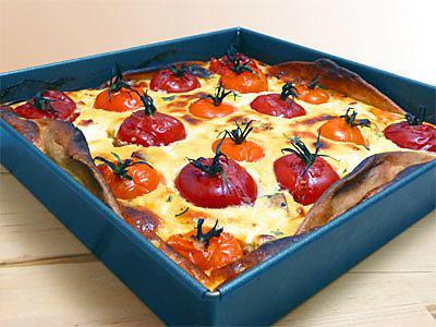 recette Quiche aux tomates cerises et champignons