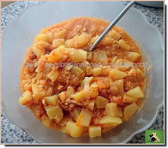 recette Rata de pommes de terre et tomates, sans viande au cooking chef (Kenwood)