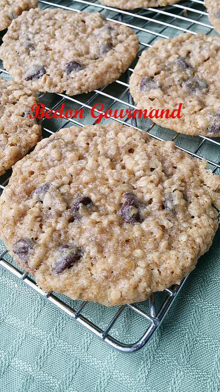 recette Biscuits avoine et quinoa aux brisures de chocolat