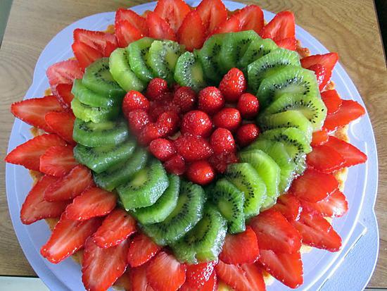 recette TARTE GENOISE AUX FRUITS