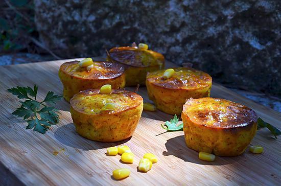 recette Muffins très gourmands au maïs
