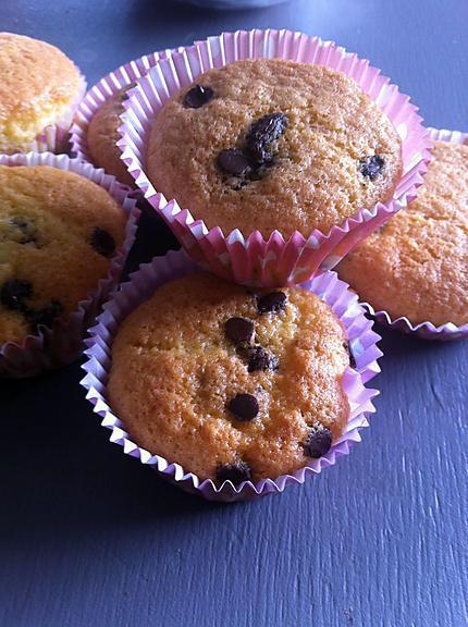 recette Muffins au soja et pépites de chocolat (sans lactose)