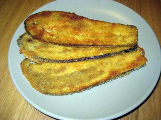 Recette de tranches d 39 aubergines pan es - Aubergine grillee a l italienne ...