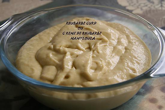 recette Rhubarbe curd ou Crème de rhubarbe