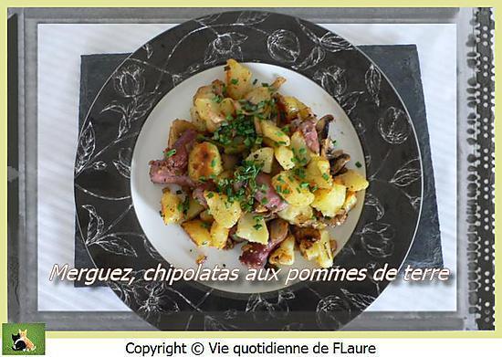 recette Merguez, chipolatas aux pommes de terre