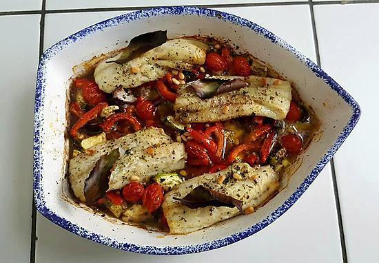 recette Filet de cabillaud aux légumes croquants