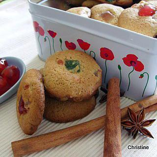 recette Coockies goût pain d'épices aux fruits confits