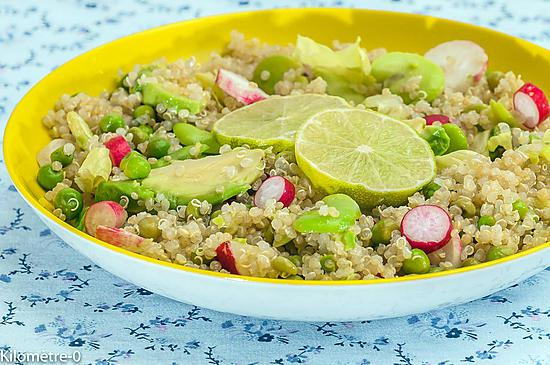 recette Salade de quinoa, avocat et légumes printaniers