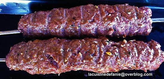 recette Brochettes de boeuf kefta au barbecue