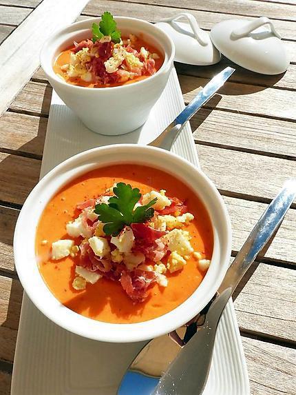 recette Salmorejo (soupe froide andalouse)