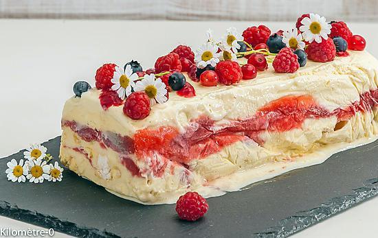 recette Semifreddo à la rhubarbe et aux fraises