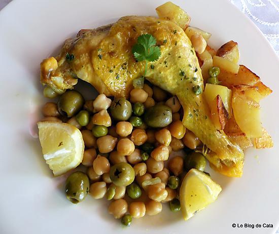 recette Tajine poulet et pommes de terre