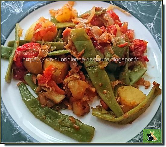 Recette de pommes de terre haricots plats et tomates avec - Cuisiner les haricots plats ...