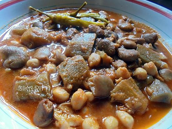 recette FWED EL HAJELA ( AAZLOUKA)