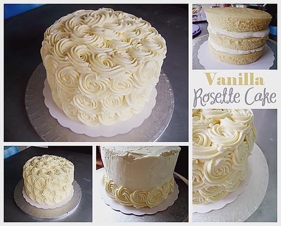 recette Vanilla Rosette Cake