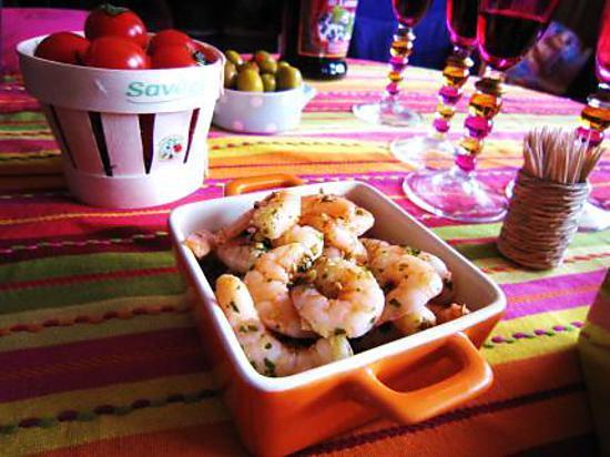 recette Crevettes marinées express