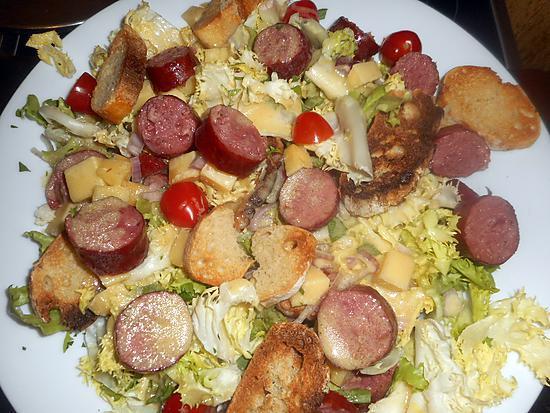 recette Salade frisée aux diots de savoie