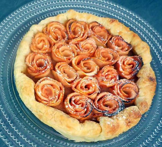 recette Tarte aux Pommes - Bouquet de Roses