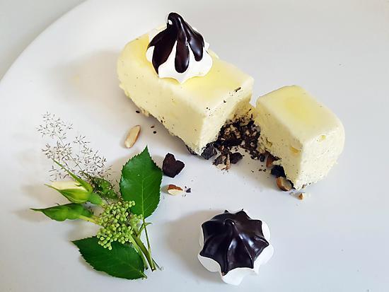 recette Comme un Vacherin Glacé Vanille et Miel, Amande et Chocolat Croquant