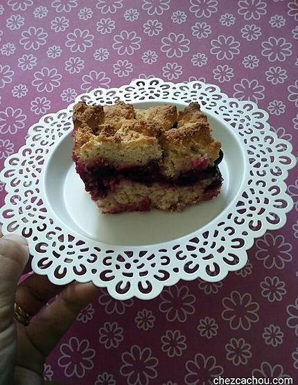 recette Gâteau polonais à la cannelle et aux prunes