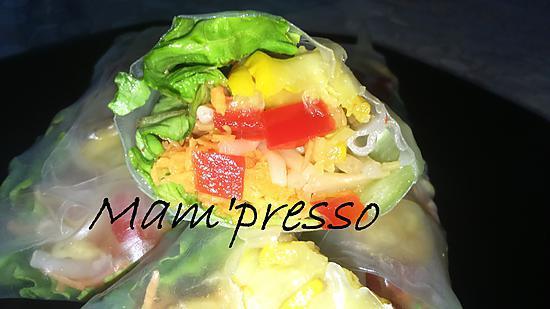 recette Rouleaux de printemps aux légumes