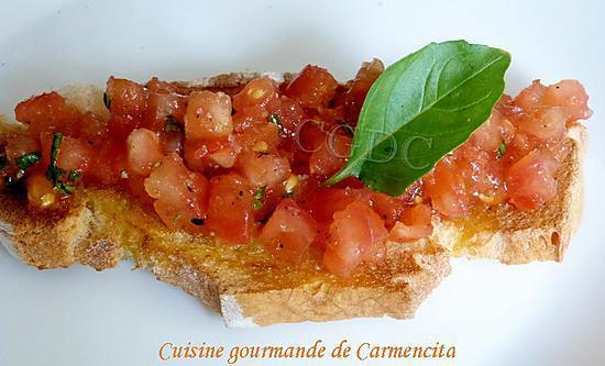 recette Bruschetta tomate huile d'olive