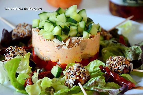 recette Terrine de poivrons et poulet ricotta au pesto rosso