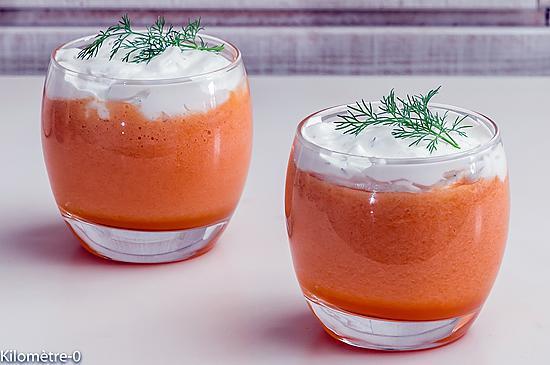 recette Soupe de melon, chantilly à l'aneth