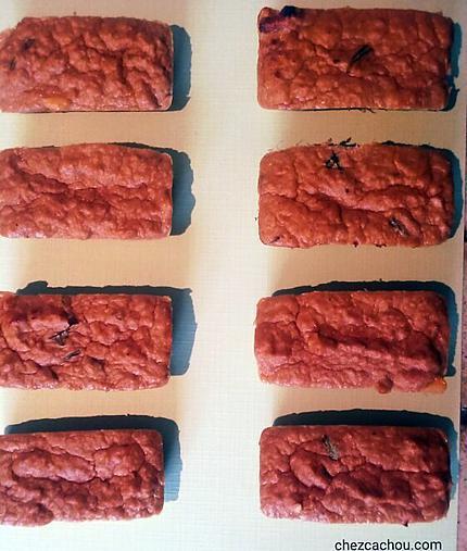 recette Petits cakes au thon et au basilic