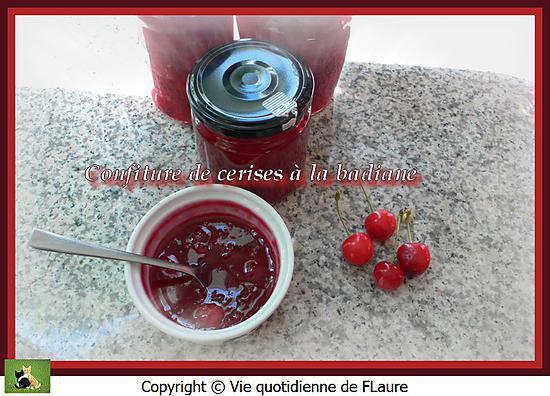 recette Confiture de cerises à la badiane