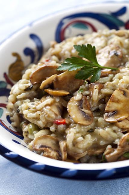 recette Risotto au poulet/champignon onctueux.