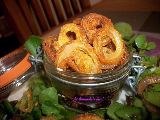 recette de mes oignons frits accompagnement salade ou ap ritif ou une soupe. Black Bedroom Furniture Sets. Home Design Ideas