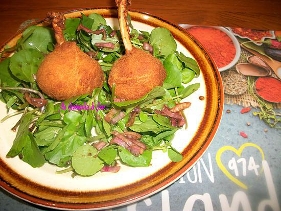 recette de salade de cresson croquette de poulet 974 par ma gourmandise du jour. Black Bedroom Furniture Sets. Home Design Ideas