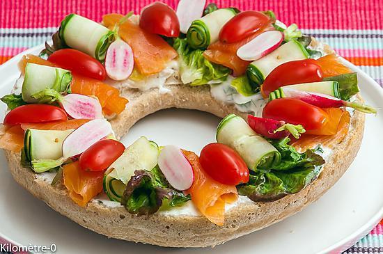 recette Couronne de pain aux légumes d\u0027été