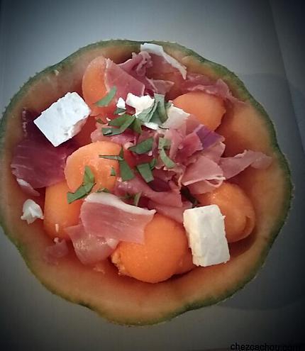 recette Melon à la feta et au jambon de Parme
