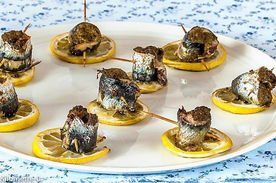 recette Sardines au pesto sur lit de citron