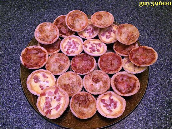 recette mes petites tartelettes pour l'apèritif de Noël