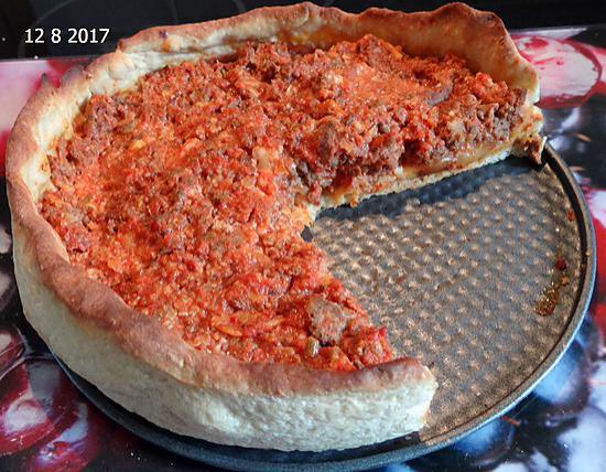 recette Pizza comme à Chicago