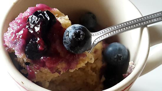 recette Muffin aux myrtilles préparé et cuit en 2min30!
