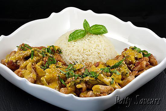 recette Poulet Sauté au Curry et Lait de Coco