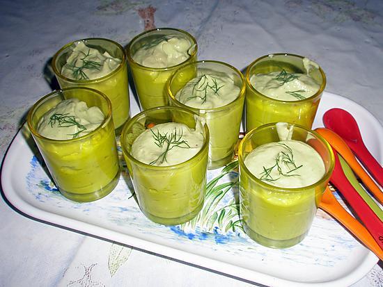 recette Verrine froide avocat concombre