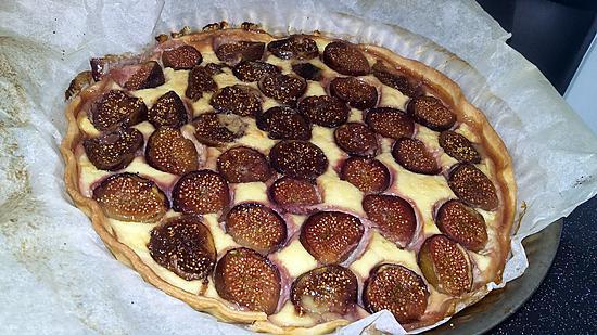 recette Tarte amandine au figues fraiches