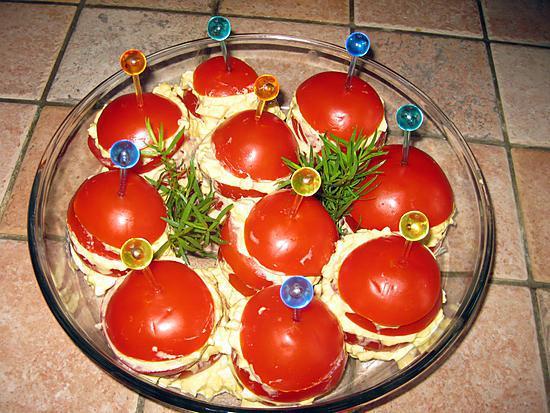 recette Mille feuille de tomate mimosa