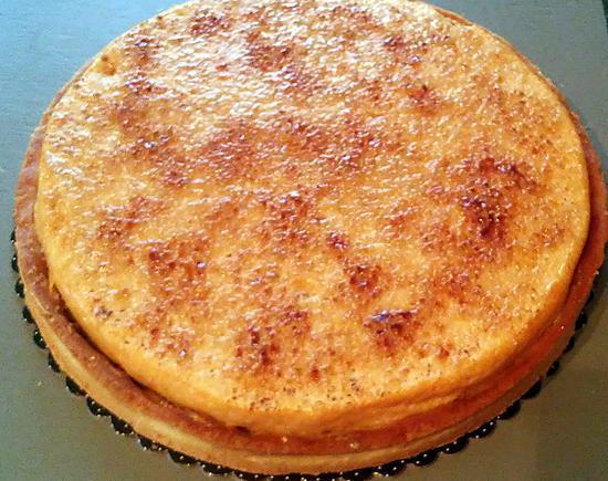 recette Tarte chocolat praliné et crème brûlée au caramel