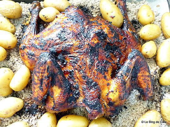 recette Poulet au paprika fumé cuit sur sel de mer