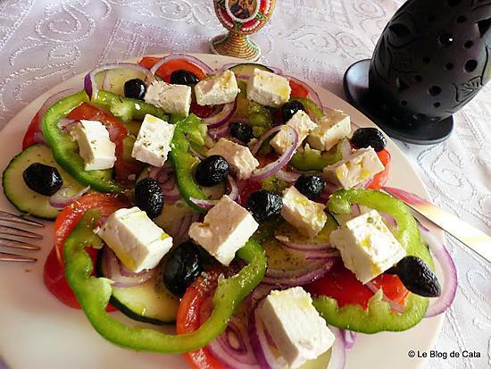 recette Salade grecque (Horiatiki)